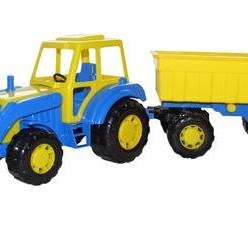 Трактор с прицепом №1 и ковшом мастер