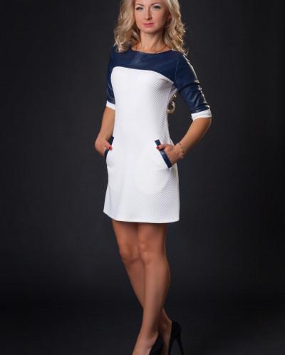 Платье № 879-молочный