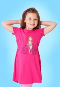 Платье с воротничком для девочек. Короткий рукав-5 цветов