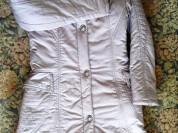 Теплое пальто с мехом демисезон/зима р.42-44