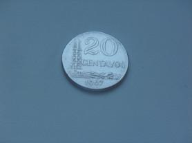 Монета 20 Сентаво 1967 год Бразилия