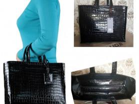 Новая большая лакированная сумка Италия оригинал
