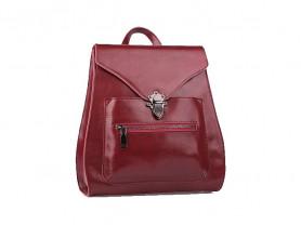 Новый кожаный рюкзак ULA бордовый