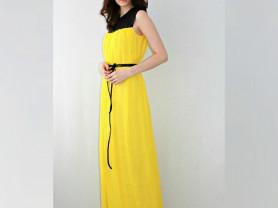 Платье в пол из натурального шелка