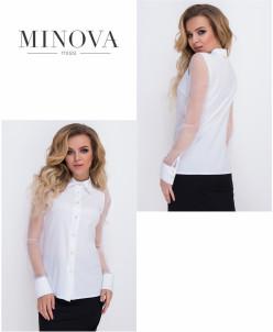 Рубашка №8579-Белый