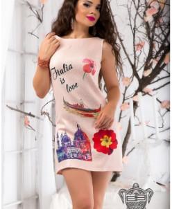 Платье с принтом - 9277