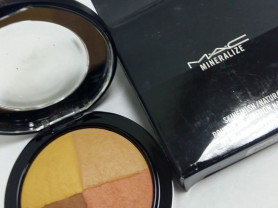 Mac mineralize пудра 4 цветная мак