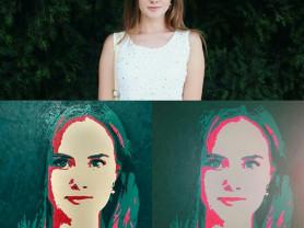 Портрет в стиле PopArt