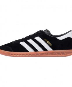 Кроссовки Adidas Hamburg Black White арт 5016-2