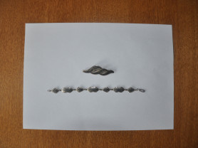 Серебряный комплект: брошь + браслет