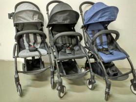 стильная чёрная прогулочная коляска babytime (yoya)