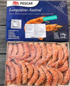 Лангустин без головы коробка 2 кг