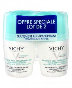 Vichy 48H Intensive Anti-perspirant Deodorant Roll-on 2 x 50