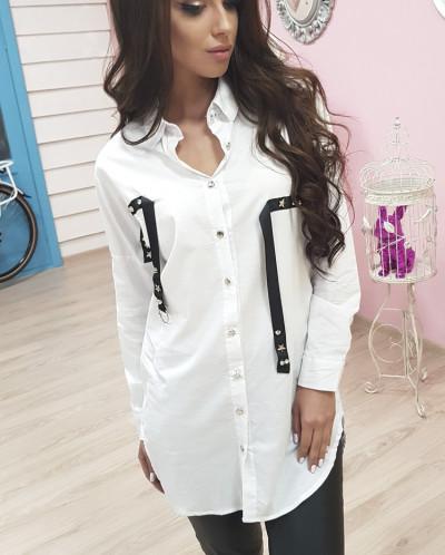 Оригинальная рубашка с лентами 654