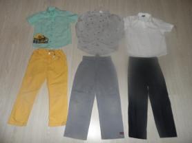 Фирм. брюки рубашки на 5-8 л, джинсы рубашки в дар