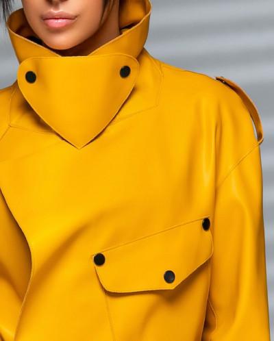 """Стильная куртка-косуха """"Мила"""" из эко-кожи."""
