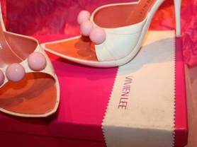 Сабо Vivien Lee Италия размер 39 б/у босоножки на платформе белые розовые кожа обувь бренд