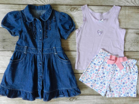 Платье майка шорты 3-4 года