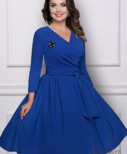 Платье Кашарэль (лазурь, с поясом)
