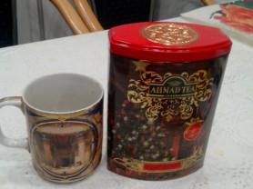 Листовой чай ahmad в новогодней упаковке