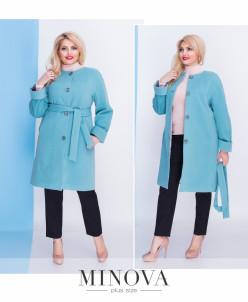 Пальто №467-Бирюза