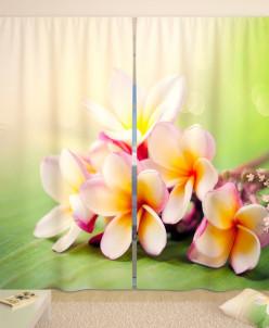Фотошторы Мягкие цветы Габардин