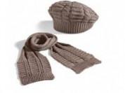 Комплект берет и шарф