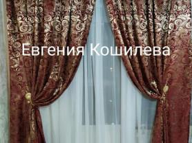 Комплект штор и тюль-вуаль
