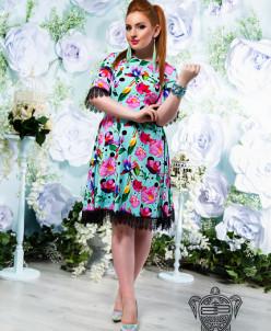 Платье с кружевом - 14196