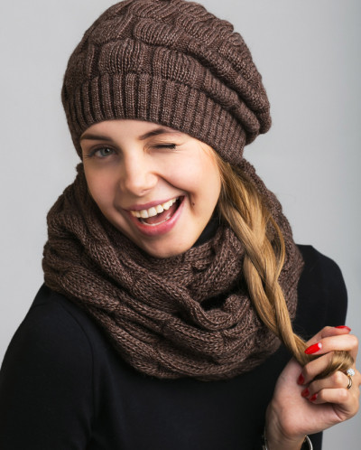КОМПЛЕКТ шапка+шарф 1001