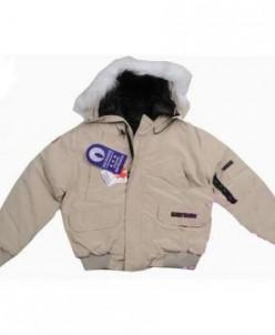 Теплый зимний пуховик Canada Goose цвет бежевый