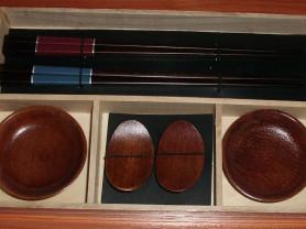 Набор для суши на 2 персоны с 4-гранными палочками