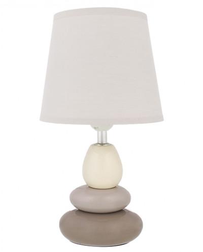 """Настольная лампа 17*17*33,5 см """"Пирамида"""" + крем. круг. абаж"""