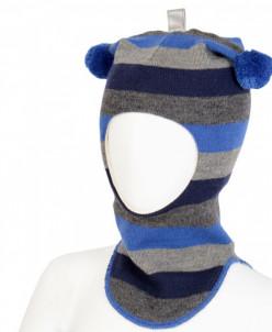 465-62 Полосатый шлем с помпонами