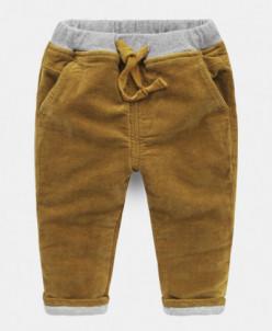 Вельветовые штаны утепленные
