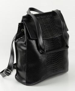 Женский кожаный рюкзак 809 Блек