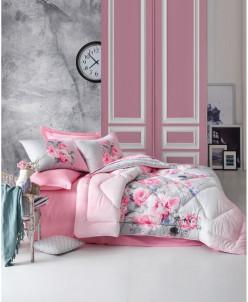 Комплект Постельного Белья с одеялом - Roxy Kirmizi satin Co