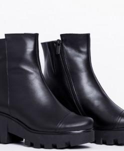 Ботинки из натуральной черной кожи 331-1