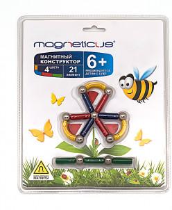 "MAGNETICUS конструктор 21 элемент / ""цветок"""
