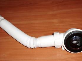 Сифон с клапаном клик-клак с прочисткой