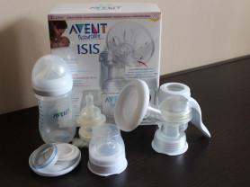 Avent Naturally issi молокоотсос с бутылочками