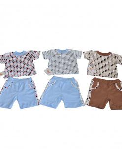 Костюм футболка, шорты для мальчика интерлок 1170