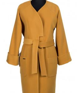 Пальто женское демисезонное (пояс) Кашемир Молочный