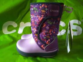 Новые зимние дутики crocs , оригинал, унисекс