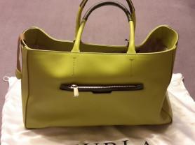 Furla DIAMANTE Shopper цвет лимонный с оливковым с