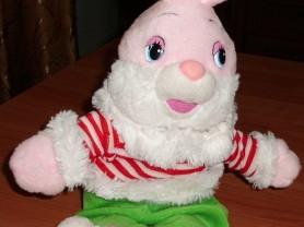 Мягкая игрушка заяц 40 см читает стих