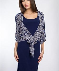 Повседневное платье #7125 (Синий)