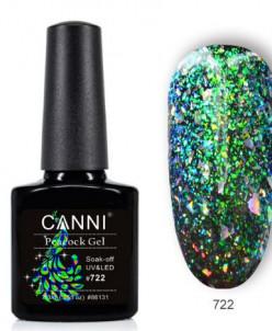 CANNI, гель-лак Павлин, Peacock gel №722