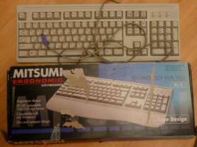 клавиатура MITSUMI Ergonomic (старого образца)