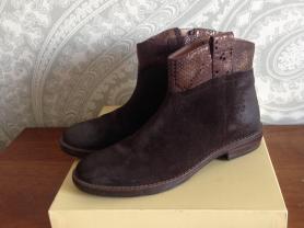 Ботинки для девочки. 33 размер, кожа. Италия.